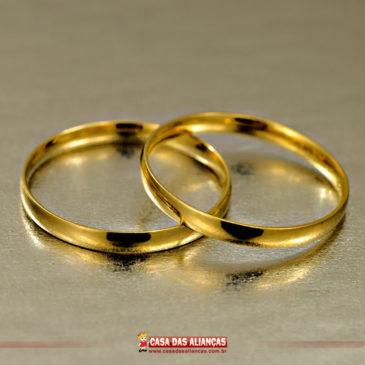 Alianças retas: a queridinha dos casais clássicos