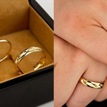15 Modelos de Alianças de Noivado com Anel em Ouro