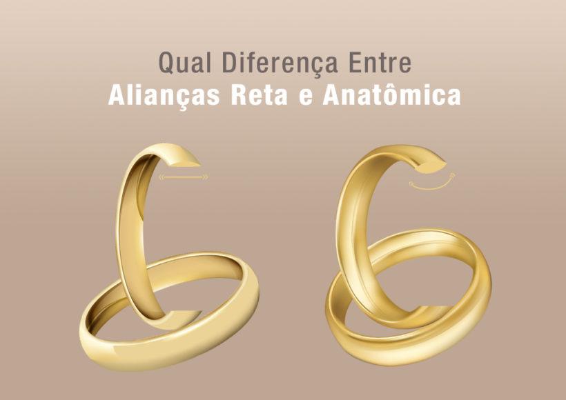 Diferença Entre Aliança Reta e Anatômica